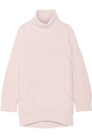 Merino wool and cashmere-blend turtleneck sweater