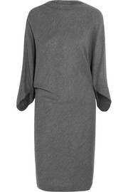 Draped wool dress