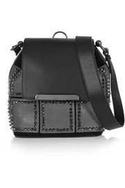 Luckyl studded suede and leather bucket bag