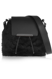 Christian Louboutin Luckyl shearling and leather bucket bag