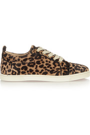 Gondoliere leopard-print calf hair sneakers