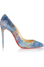 Pigalle Follies 100 glitter-finished leather pumps