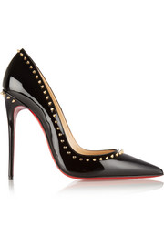 Christian Louboutin Anjalina 120 studded patent-leather pumps