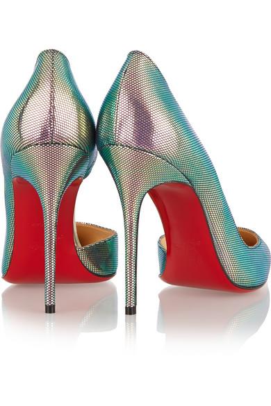 fake red bottom shoes for sale - Christian Louboutin | Iriza 100 metallic pumps | NET-A-PORTER.COM