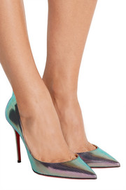 Christian Louboutin Iriza 100 metallic pumps