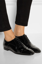 Christian Louboutin Masterpump patent-leather brogues