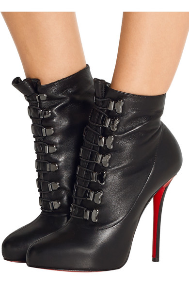 Christian Louboutin | Troopista 120 lace-up leather ankle boots ...