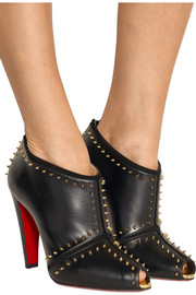 Christian Louboutin Carapachoc 100 spiked leather peep-toe ankle boots