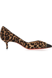 Culturella 45 studded leopard-print calf hair pumps