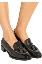 Monaliso chain-embellished leather loafers