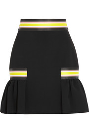 Striped stretch-jersey mini skirt