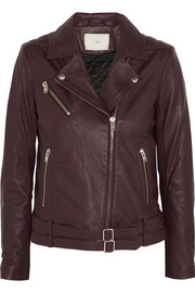 Jone leather biker jacket