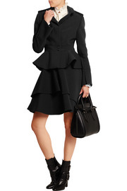 Stretch wool-blend peplum jacket