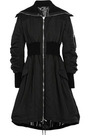 Alexander McQueen Shell and ribbed wool-blend jersey parka