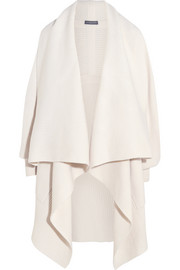 Alexander McQueen Draped wool and cashmere-blend cardigan