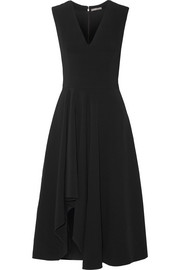 Alexander McQueen Asymmetric stretch-cady dress