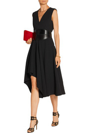 Asymmetric stretch-cady dress