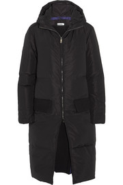 Jil Sander Layered quilted shell down coat