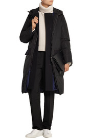 Layered quilted shell down coat