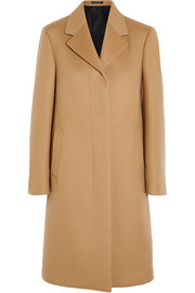 Brushed wool and cashmere-blend coat