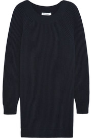 Jil Sander Oversized wool and cashmere-blend mini sweater dress