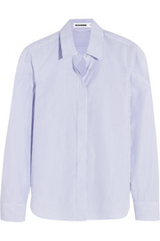 Jil Sander Striped cotton-poplin shirt