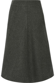 Melton wool midi skirt