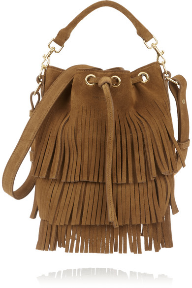 117c7d0d790 SAINT LAURENT   Emmanuelle small fringed suede shoulder bag   NET-A ...
