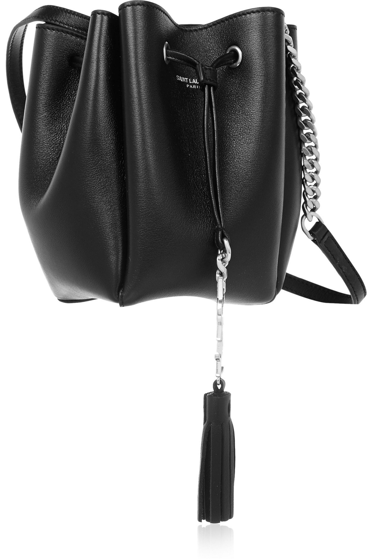 SAINT LAURENT Monogramme Bourse mini leather bucket bag