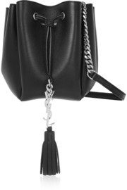 Saint Laurent Monogramme Bourse mini leather bucket bag