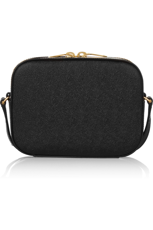 SAINT LAURENT Monogramme textured-leather camera bag