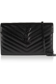Monogramme quilted textured-leather shoulder bag