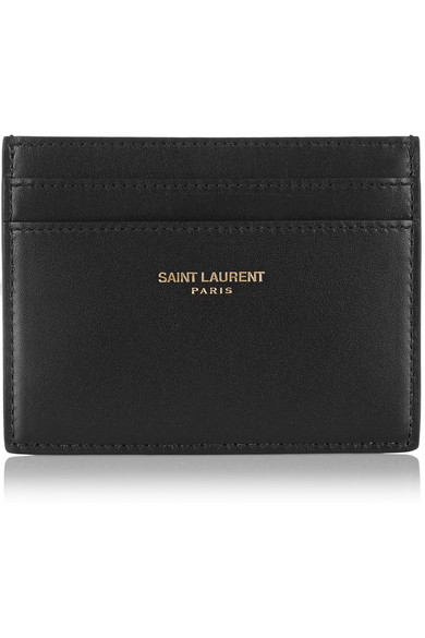 saint laurent porte cartes en cuir net a porter com. Black Bedroom Furniture Sets. Home Design Ideas