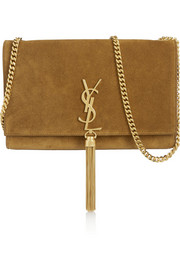 Monogramme medium suede shoulder bag