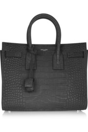 Saint Laurent Sac De Jour small croc-embossed leather tote