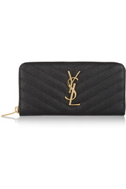Saint Laurent Monogramme quilted textured-leather continental wallet