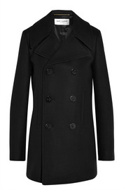 Saint Laurent Double-breasted wool coat