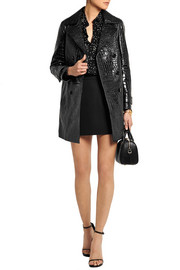 Saint Laurent Croc-effect leather coat
