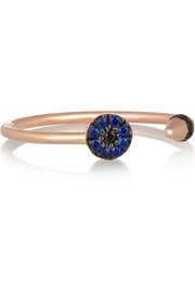 Little Eye Spike 10-karat rose gold cubic zirconia ring