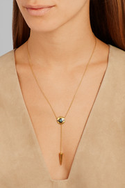 Dawn Spike gold-plated cubic zirconia necklace