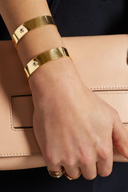IAM by Ileana Makri Ziggy gold-plated cuff