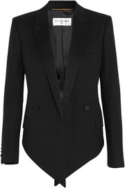 Saint Laurent Wool-crepe blazer