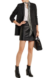 Checked wool-blend tweed blazer