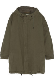 Hooded cotton-twill parka