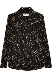 Saint Laurent Star-print crepe shirt