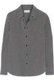 Saint Laurent Striped silk crepe de chine shirt