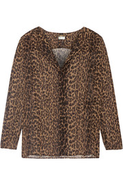 Saint Laurent Leopard-print silk-georgette blouse