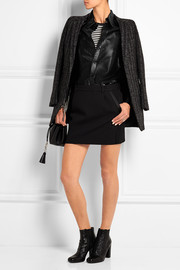 Saint Laurent Glossed-leather shirt