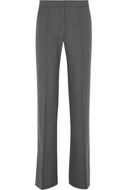 Machiavel pinstriped wool flared pants