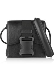 Safety Buckle mini textured-leather shoulder bag